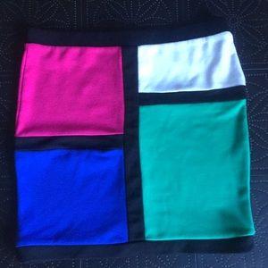 Forever 21 Multi Color Mini Skirt